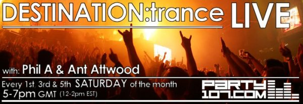 DESTINATION:trance Top 50 of 2007 - LIVE with Ant Attwood, Phil A, and Jurrane (12-29-07)