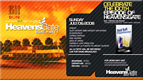 HeavensGate Boat Party in Germany to Celebrate 100th Episode