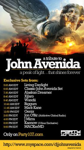 John Avenida Tribute Event 2008 - 15 Hours of Sets (08-04-08)