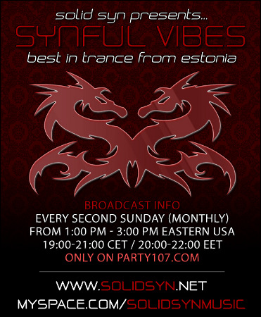 Synful Vibes Debut on Party107 with Solid Syn (05-10-09)