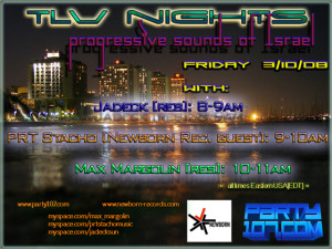 TLV Nights Now on Friday and Three Hours