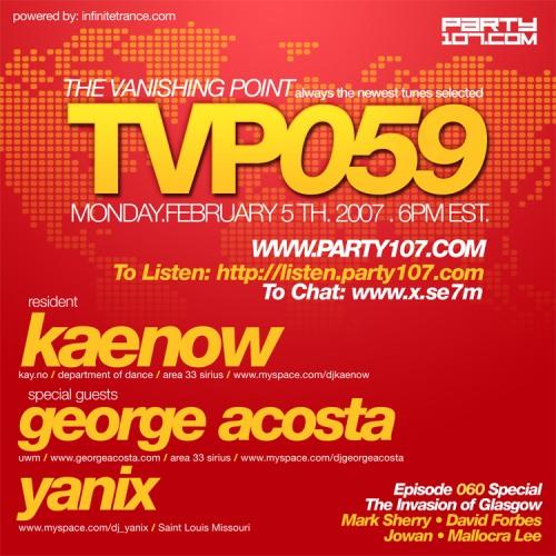 The Vanishing Point 059 with DJ Kaenow, George Acosta, and Yanix (02-05-07)
