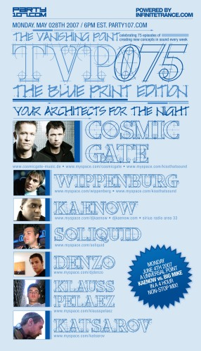 The Vanishing Point 075 with Kaenow, Cosmic Gate, WIppenberg, and more (05-28-07)!
