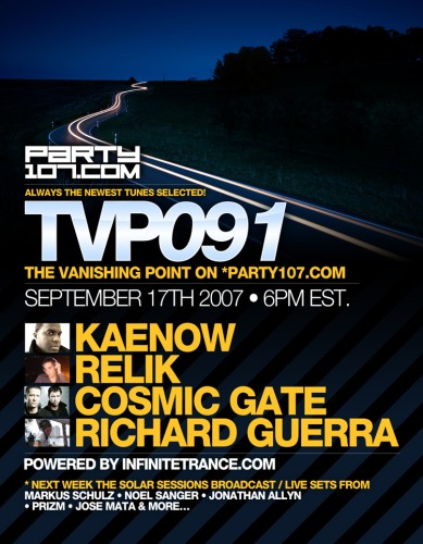 The Vanishing Point 091 with Kaenow, Relik, Cosmic Gate, and Richard Guerra (09-17-07)