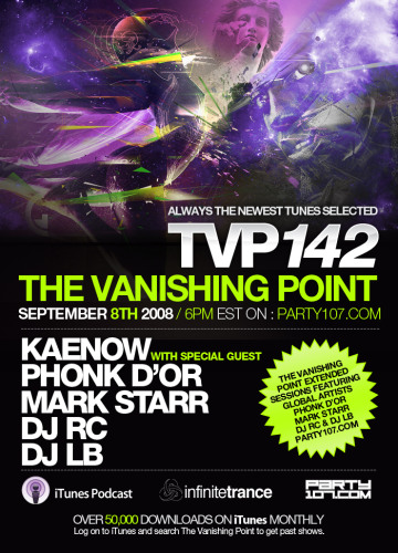 The Vanishing Point 142 with Kaenow, Phonk D'or, Mark Starr, DJ RC, and DJ LB (09-08-08)