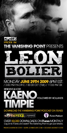The Vanishing Point 184 with Leon Bolier, Kaeno, and Timpie (06-29-09)