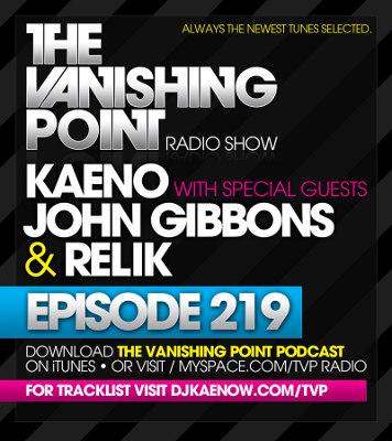 The Vanishing Point 219 with Kaeno, John Gibbons, and Relik (2010-03-01)